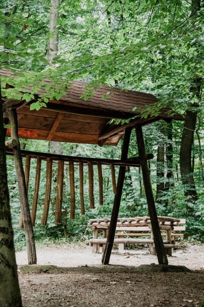 Klangstation des Walderlebnispfades