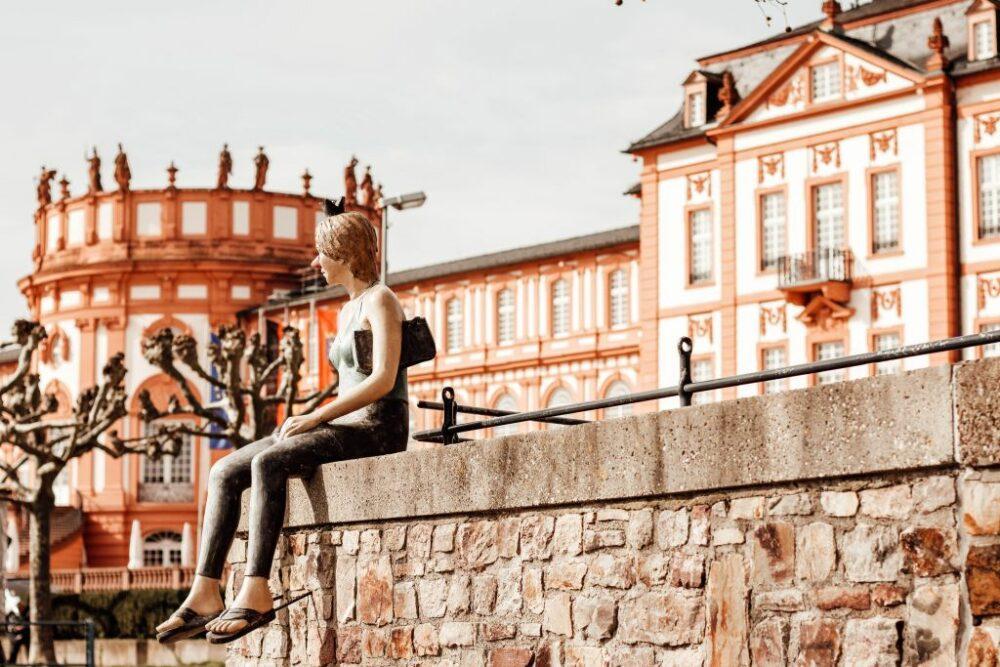 Wiesbaden Biebrich Schloss und Rheinufer